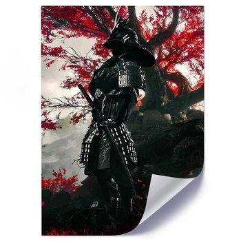 Plakat FEEBY Samuraj, 50x70 cm-Feeby