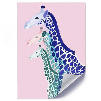 Plakat FEEBY Trzy żyrafy, 50x70 cm-Feeby