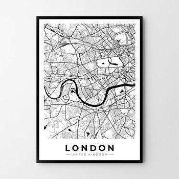 Plakat HOG STUDIO Londyn mapa, B2, 50x70 cm-Hog Studio