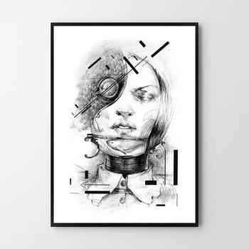 Plakat HOG STUDIO New girl, 40x50 cm-Hog Studio