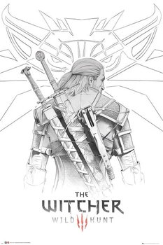 Plakat Maxi Geralt Szkic - Wiedźmin-GB eye
