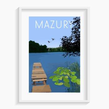 Plakat Mazury 40x50 cm-A. W. WIĘCKIEWICZ