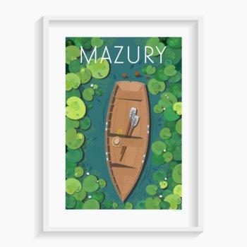 Plakat Mazury A3 29,7x42 cm-A. W. WIĘCKIEWICZ