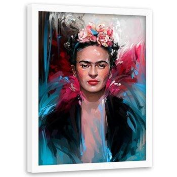 Plakat w ramie białej FEEBY Frida, 70x100 cm-Feeby