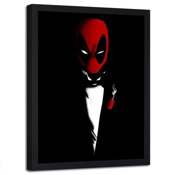 Plakat w ramie czarnej FEEBY Deadpool, portret, 50x70 cm-Feeby