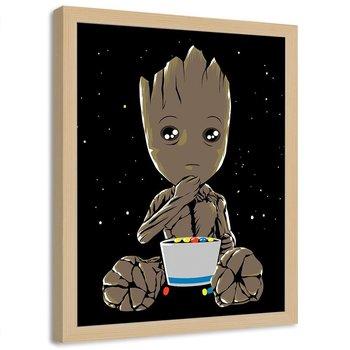 Plakat w ramie naturalnej FEEBY Galaktyczny strażnik, 70x100 cm-Feeby