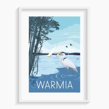 Plakat Warmia 40x50 cm-A. W. WIĘCKIEWICZ