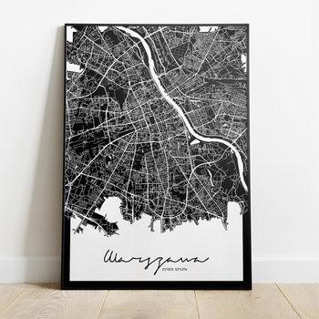 Plakat Warszawa Mapa, 30x40 cm-Peszkowski Graphic
