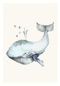 Plakat, Wieloryb, 21x29,7 cm-Katarzyna Stróżyńska Goraj
