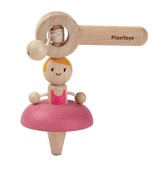 Plan Toys, drewniany bączek Baletnica-Plan Toys