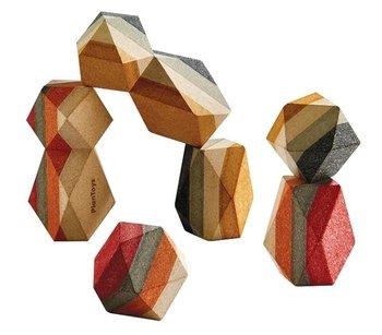 Plan Toys, klocki Kamienie geometryczne-Plan Toys
