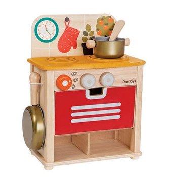 Plan Toys, Kuchnia, zestaw drewniany-Plan Toys