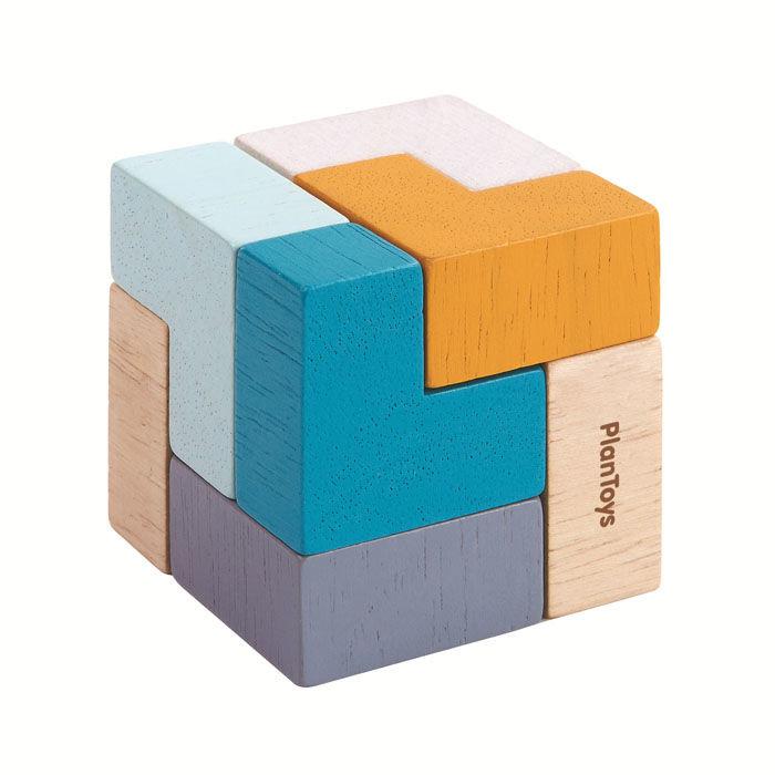 Plan Toys, mini puzzle Sześcian