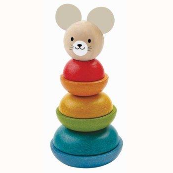 Plan Toys, wieża do układania Myszka-Plan Toys