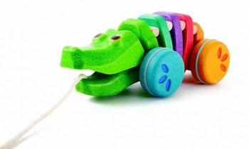 Plan Toys, zabawka do ciągnięcia Tęczowy krokodyl-Plan Toys