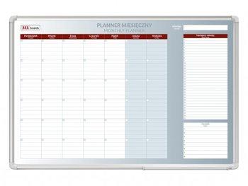 Planer miesięczny, suchościeralno-magnetyczny, 150x100 cm