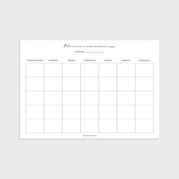 Planner miesięczny A4, Pure