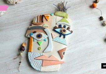 Płaskorzeźba w stylu Picassa - wykonaj ją z gliny