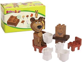 Playbig Masza I Niedźwiedź Klocki Herbatka Niedźwiadka Zestaw