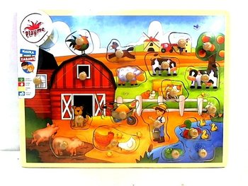 Playme Brimarex, układanka z pinezkami Farma-Playme Brimarex