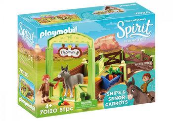 Playmobil, zestaw figurek Boks stajenny Klak i Marchewa