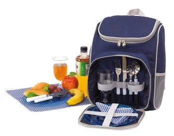 Plecak piknikowy chłodzący KEMER OUTSIDE - niebieski / szary-KEMER