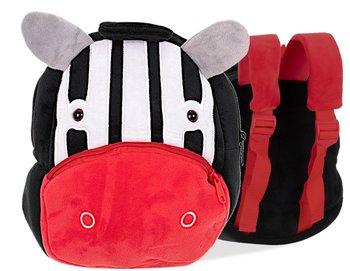 Plecak przedszkolaka pluszowy, zebra 24cm-KIK