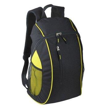 Plecak sportowy Garland, czarny/żółty-UPOMINKARNIA