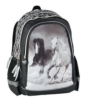 Plecak szkolny, konie
