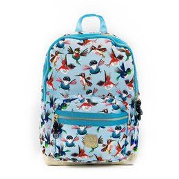 Plecak szkolny Pick & Pack Birds M - dusty blue