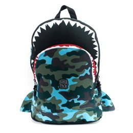 Plecak szkolny Pick & Pack Shark Shape M - camo light blue