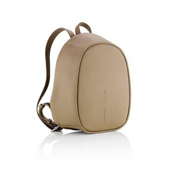 Plecak z ochroną antykradzieżową Bobby Elle Brązowy - czerwony-XD COLLECTION