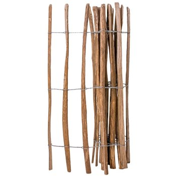 Płot drewniany VIDAXL, rolka, brązowy, 1,2x2,5 m-vidaXL