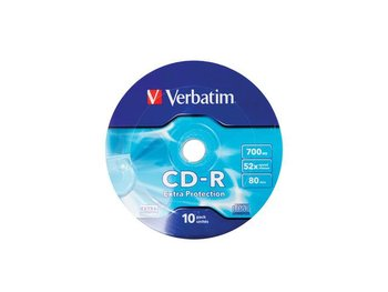 Płyty CD-R VERBATIM Extra Protection, 700 MB, 52x, 10 szt.-Verbatim