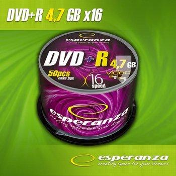 Płyty DVD+R ESPERANZA 1115, 4.7 GB, 16x, 50 szt.-Esperanza