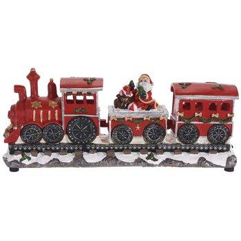 Pociąg świąteczny LED HOME STYLING COLLECTION, motyw Świętego Mikołaja, 20x39x14 cm-Home Styling Collection