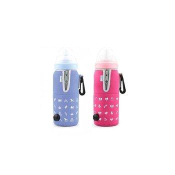 Podgrzewacz do butelek Nuvita, samochodowy Różowy-Nuvita