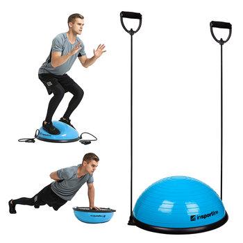 Podkładka balansująca bosu do ćwiczeń inSPORTline Dome UNI z linkami, Niebieski-inSPORTline