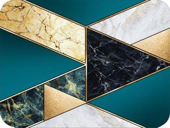 Podkładka korkowa na stół, twarda, z geometrycznym wzorem i marmurem, 30x40 cm-Postergaleria