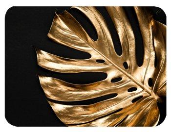Podkładka korkowa na stół, twarda, złocona liść monstery, 30x40 cm-Postergaleria