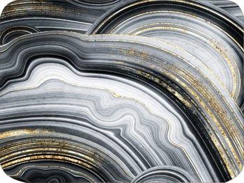 Podkładka korkowa na stół, twarda, złocona z nowoczesnym wzorem , 30x40 cm-Postergaleria