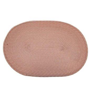 Podkładka mata kuchenna OWALNA na stół ochronna pod talerze sztućce RÓŻOWA 45x30 cm-Orion