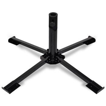 Podstawa pod parasol VIDAXL, składana, czarna, 85x85x33 cm-vidaXL