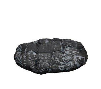 Poducha CHABA Owalna Standard czarna gazeta, rozmiar 4, 58 x 50 cm-Chaba
