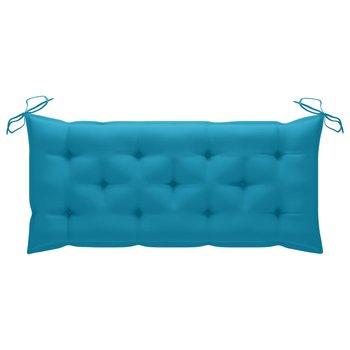 Poduszka na ławkę ogrodową, niebieska, 120x50x7cm, tkanina-vidaXL