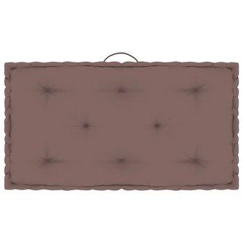 Poduszka na podłogę lub paletę, taupe, 73x40x7 cm, bawełna-vidaXL