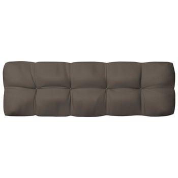 Poduszka na sofę ogrodową, kolor taupe, 120x40x12 cm, tkanina-vidaXL