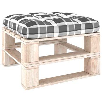 Poduszka na sofę z palet, w szarą kratę, 70x70x12 cm-vidaXL