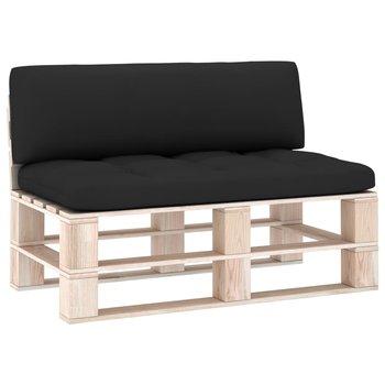 Poduszki na sofę z palet, 2 szt., czarne-vidaXL