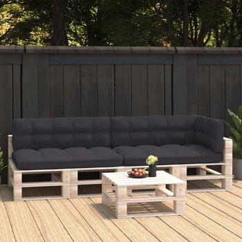 Poduszki na sofę z palet, 5 szt., antracytowe-vidaXL